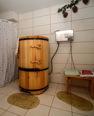Cedar phytobarrel in the Fantasy hotel